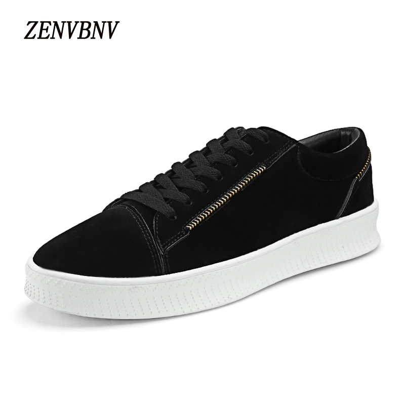 ZENVBNV New 2018 Spring Fashion Lace Up Pu Leather Retro Shoes Men Flat Heel Shoes High Quality Brand Casual Shoes Men Sneakers 2017 men shoes fashion genuine leather oxfords shoes men s flats lace up men dress shoes spring autumn hombre wedding sapatos