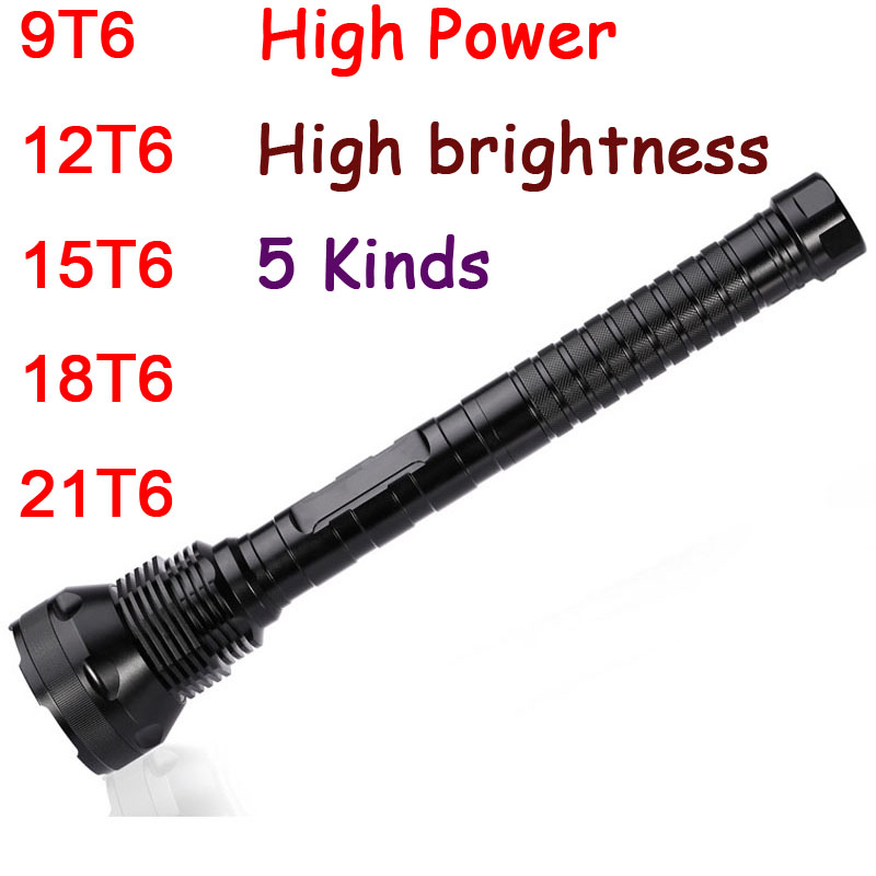 Hunting Camping 9 12 15 18 Led 21 24 x CREE XM-L T6 5 Modes LED Flashlight Torch For 26650/18650 Battery High Quality Torch Lamp super powerful 28 x xm l t6 led 45000 lm 5 modes flashlight torch lamp tactical light large capacity battery 18650 26650