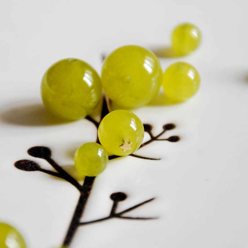 Натуральный, оливкового Цета халцедон 4 мм-14 мм круглые большие бусины браслет, ожерелье, серьги, делая украшения ручной работы материалы ручной работы