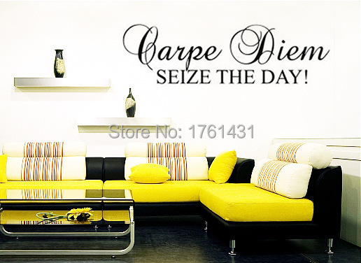 Carpe Diem Seize The Day Wall Decals Vinyl Stickers Home Decor