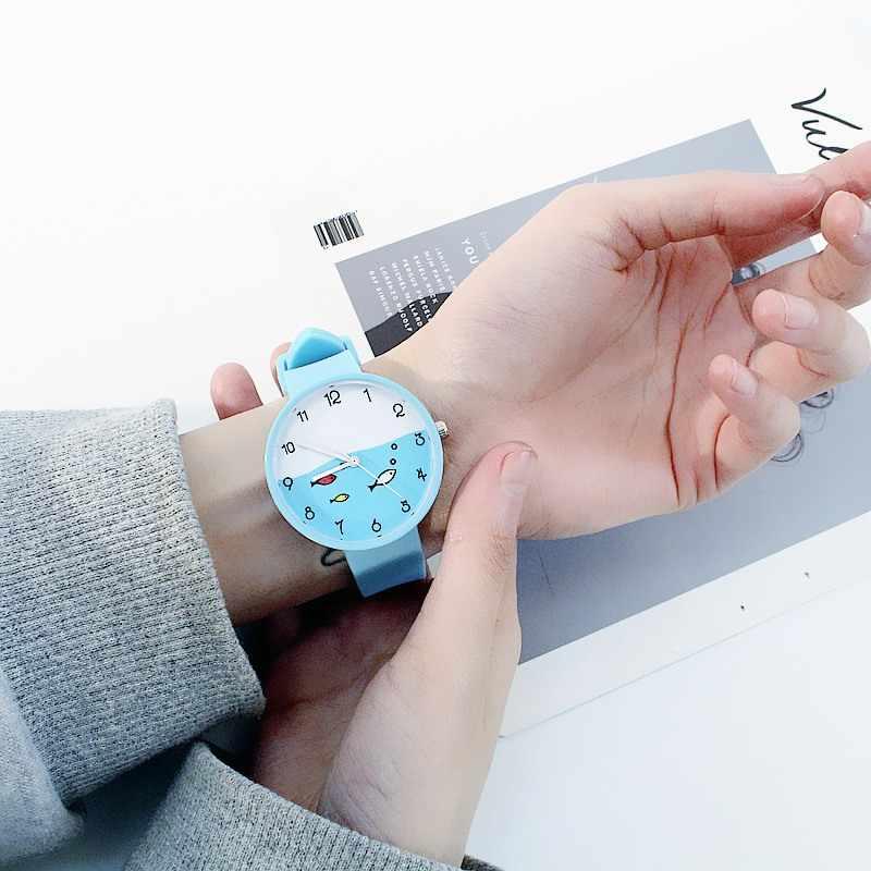 2019 צבעים בוהקים ילדים שעון בנות שעון אופנה ילדי שעוני יד Cartoon ילדים קוורץ שעון