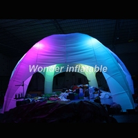 Lighting inflatable spider tent white led light inflatble for advertising/exhibition/promotional/trade/lawn 8M