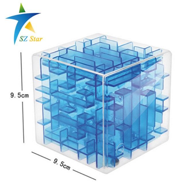 three-dimensional magic puzzle cube maze labyrinth rolling balance game toy unique intellectual development child kid free ship
