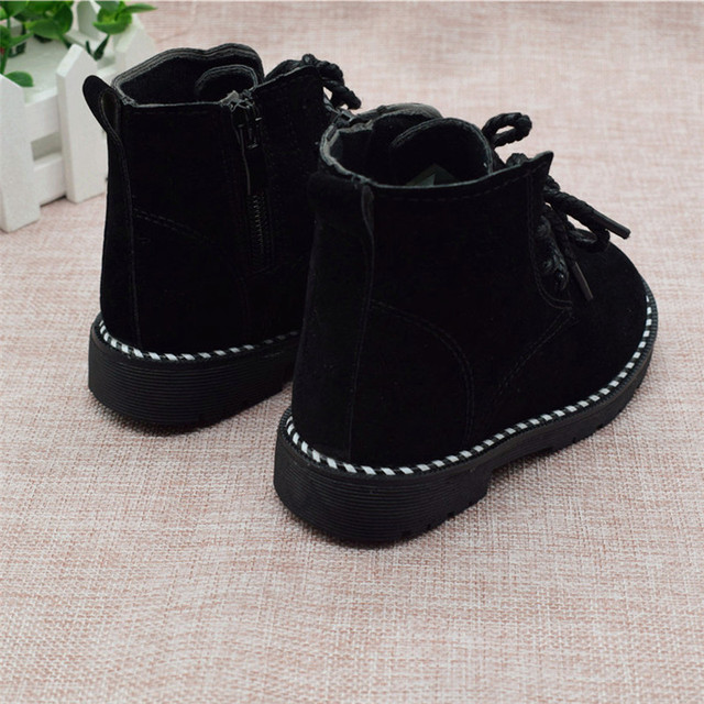 Size 21-30 Fashion 2019 Autumn Boys Baby Boots For Girls Children Martin Boots Kids Ankle Zip Sneakers Girl Casual Toddle Shoes 3