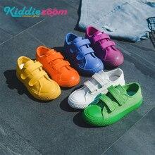 Plutônio + lona crianças sapatos esporte respirável meninos tênis crianças sapatos para meninas jeans denim casual criança plana cor sólida branco