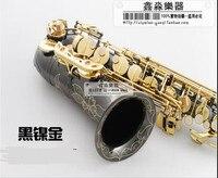Yüksek kaliteli saksafon YH0070937 bemol alto saksafon siyah nikel ÜST müzik aletleri profesyonel sınıf nakliye