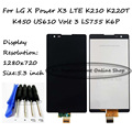 For LG X Power X3 LTE K210 K220T K450 US610 Volt 3 LS755 K6P LCD Display + Touch Screen Digitizer Assembly Replacement + Tools