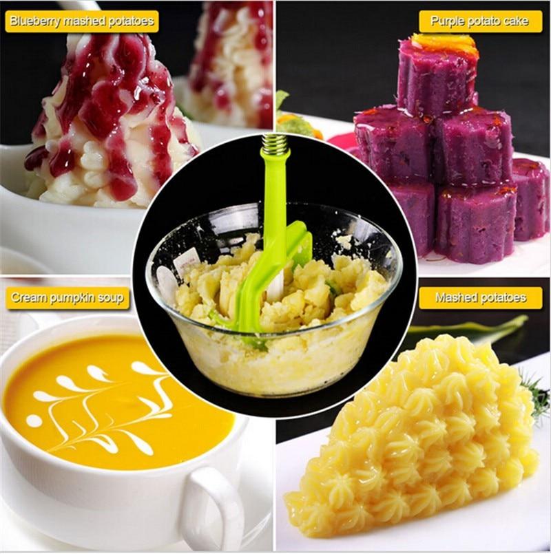 1 vnt naujas bulvių presavimo įrankis bulvių koše Purpurinė - Virtuvė, valgomasis ir baras - Nuotrauka 3
