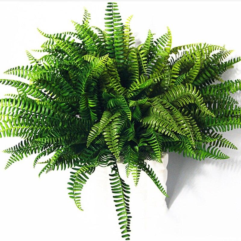 1pcs Artificial Lifelike Large Boston Fern Plant Green Grass Home