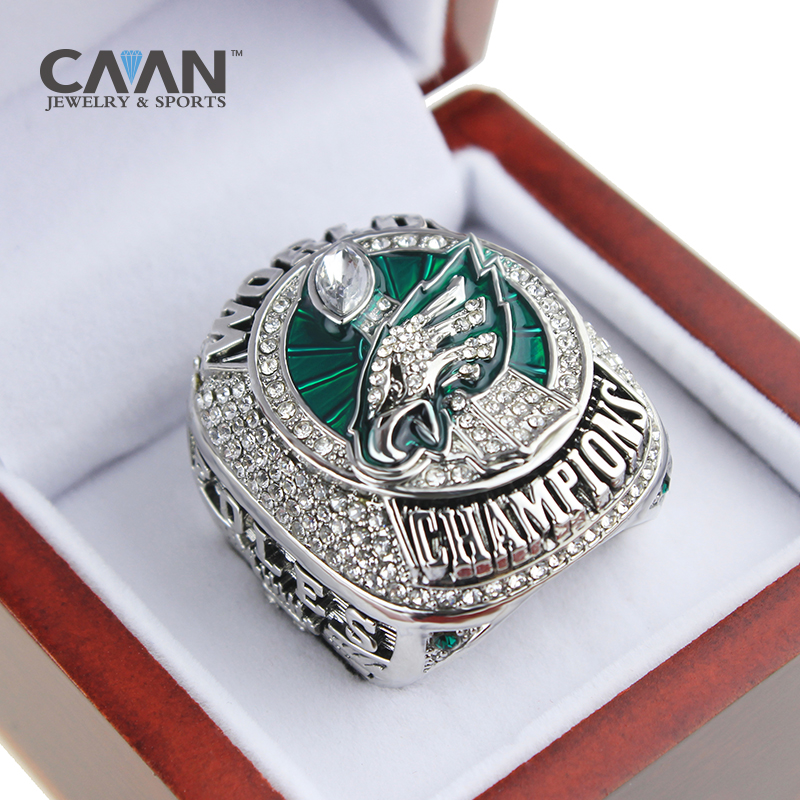 Official 2018 Philadelphia Eagles Ring Championship ring Foles and Wentz size 9-13 for Fans c 程序设计初学者案例教程