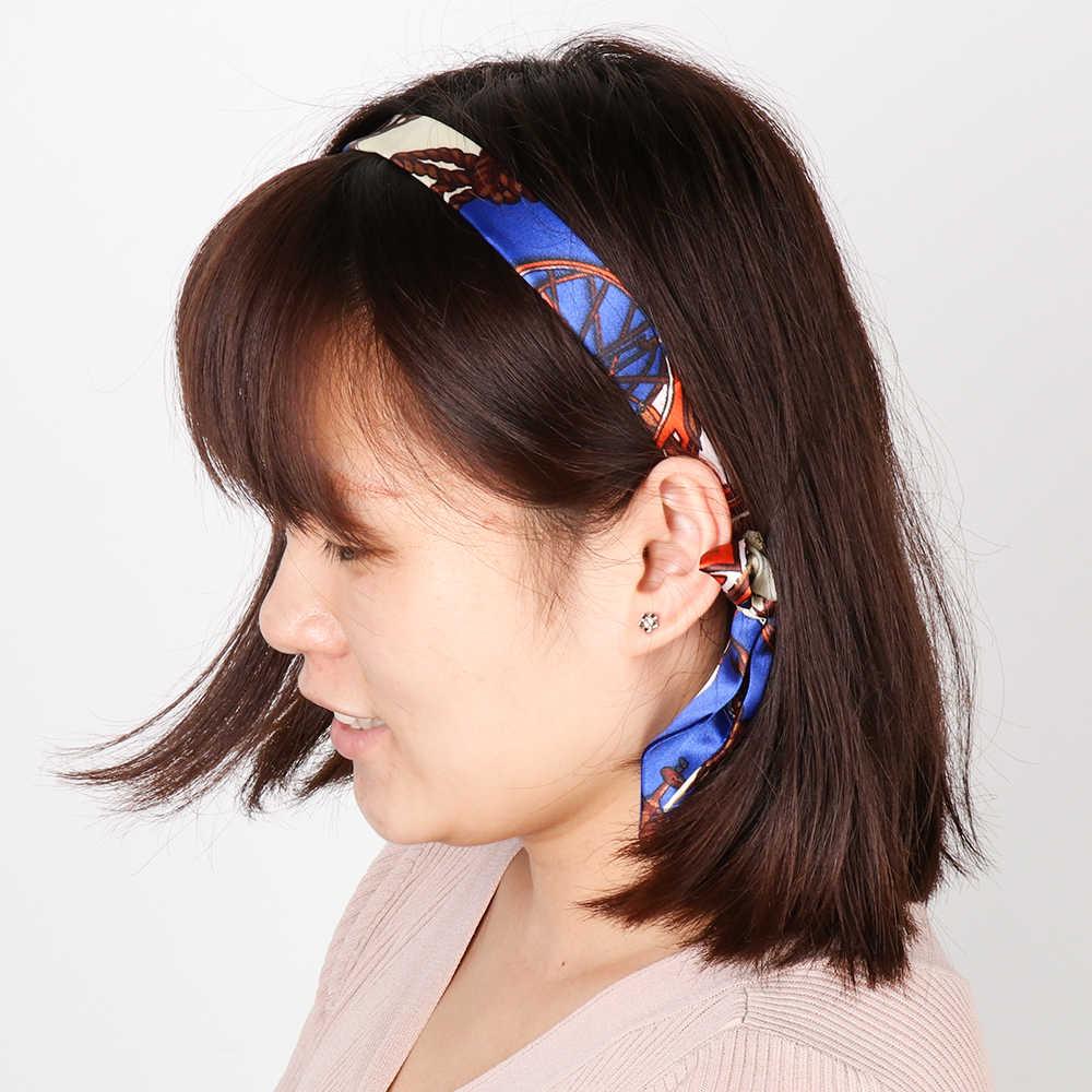 Moda Mini Cinto Saco de Sarja Lenço De Seda Cachecol Floral Alça Laço Headband Ribbon Bow Tie Decoração Bolsa de Acessórios