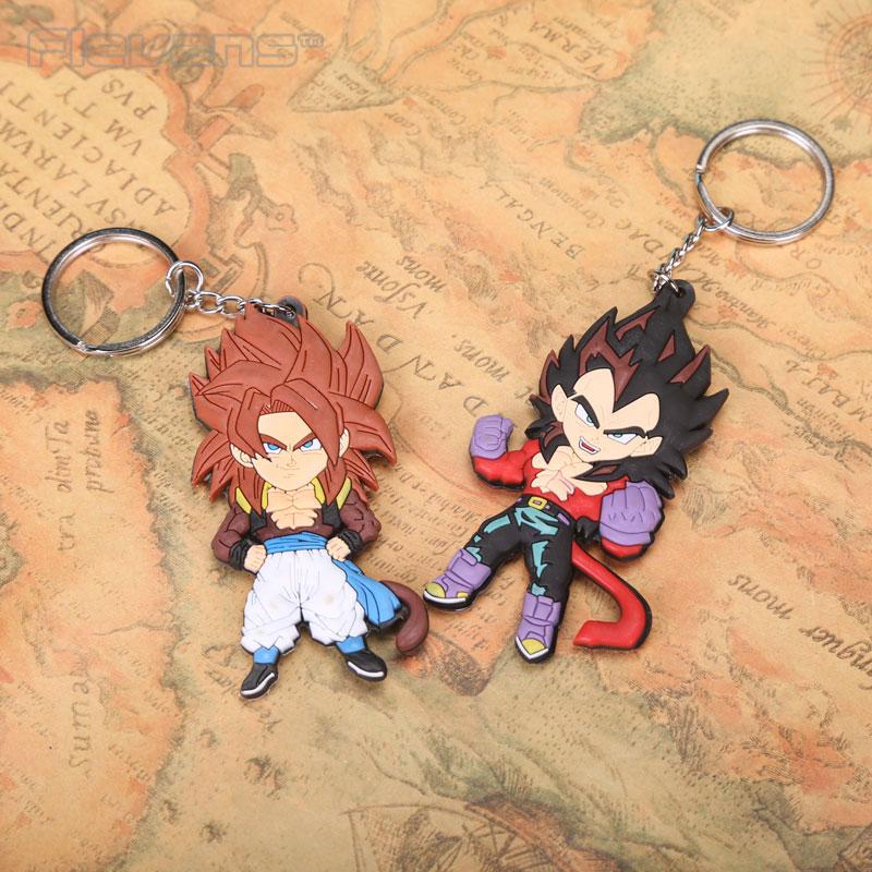 Anime Cartoon Dragon Ball Z Son Goku Vegeta PVC Figure Keychains Pendants Toys 5pcs/set