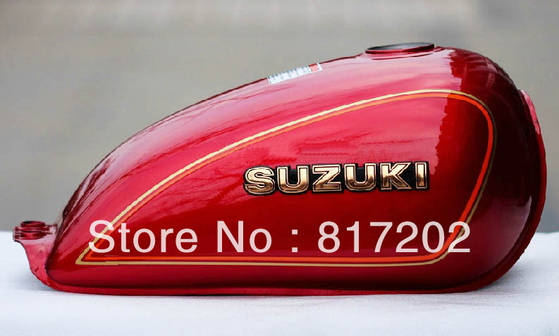 NEW OEM QUALITY GN250 GN 250 FUEL ( PETROL GAS ) TANK, RED with LETTER Emblem  цены