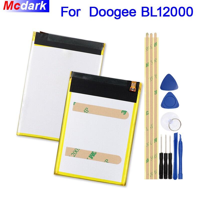 Mcdark 12000 mah Batterie Pour Doogee BL12000/BL12000 Pro Batterie Bateria Accumulateur AKKU ACCU PIL Mobile Téléphone avec outils