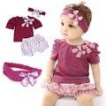 2017 macacão de bebê verão conjuntos de roupas de bebê menina bonito bebê recém-nascido roupas roupas bebe infantil baby dress roupas crianças