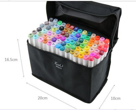 Artist Double Headed Marker Set 60colors Design Mark Pen Animation Design Paint Sketch Markers for Drawing paint brush sta markers pen new promotions capillary handles for drawing 80 colors artist design markers for drawing double headed mark pens