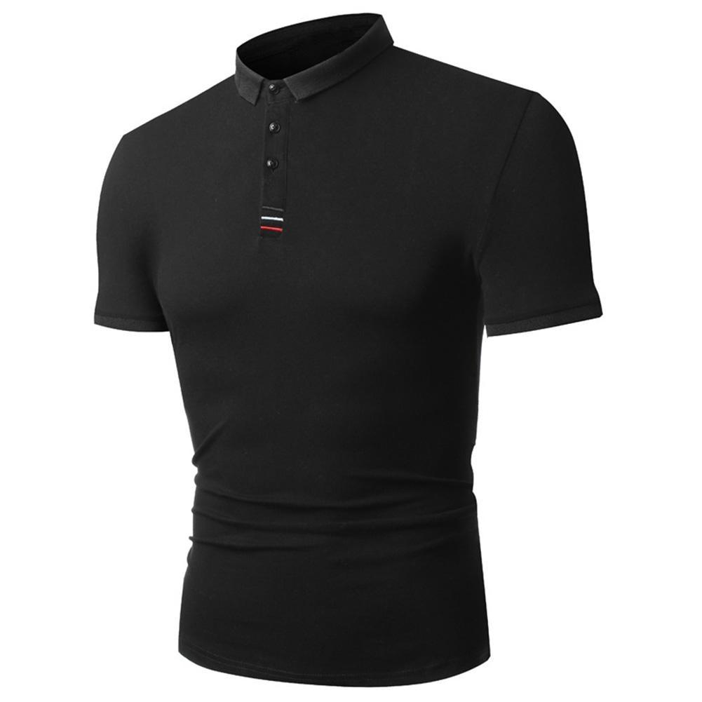 Men's Buttons Short Sleeve Summer Business Casual Slim T-shirt Top Tee