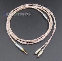 8 Núcleos de Plata de PVC Blando + OCC Mixta 2.5mm TRRS Cable de los Auriculares De Shure se425 se846 se535 se215 LN005673