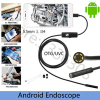 3.5M USB Endoscope Inspection Camera IC 0.3MP 5.5MM Dia 6LED& 3Accessaries Waterproof Inspection Borescope Camera HD 640*480|inspection camera|borescope camera|endoscope inspection camera -