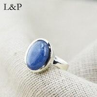 2019 New Elegant Aquamarine Stone Ring For Women Original Design Simple Real 925 Sterling Silver Ring Gift Christmas Gift