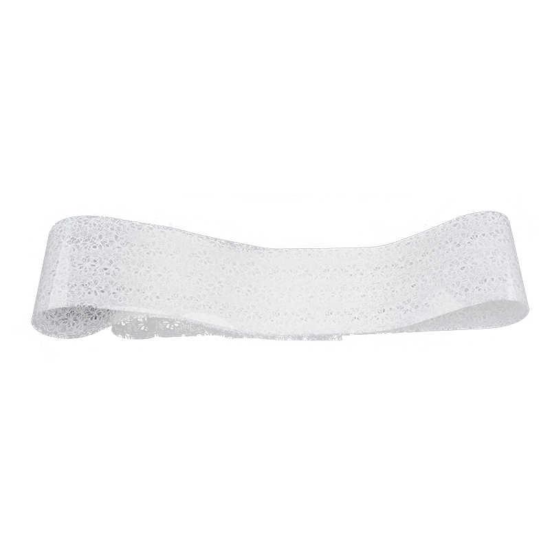 120*4cm białe koronki wzór kwiatowy transfer naklejki foliowe na paznokcie wysokiej jakości DIY paznokci naklejki ozdobne naklejki narzędzia do manicure