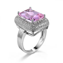 High quality new women jewelry luxury design red zircon ring Golden style unique charm female engagement Silver Ring