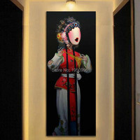 Frameless Oil Painting Canvas Painting Home Traditional Jewelry Opera Lady Decoration Picture Wall Decor Overlook Painting