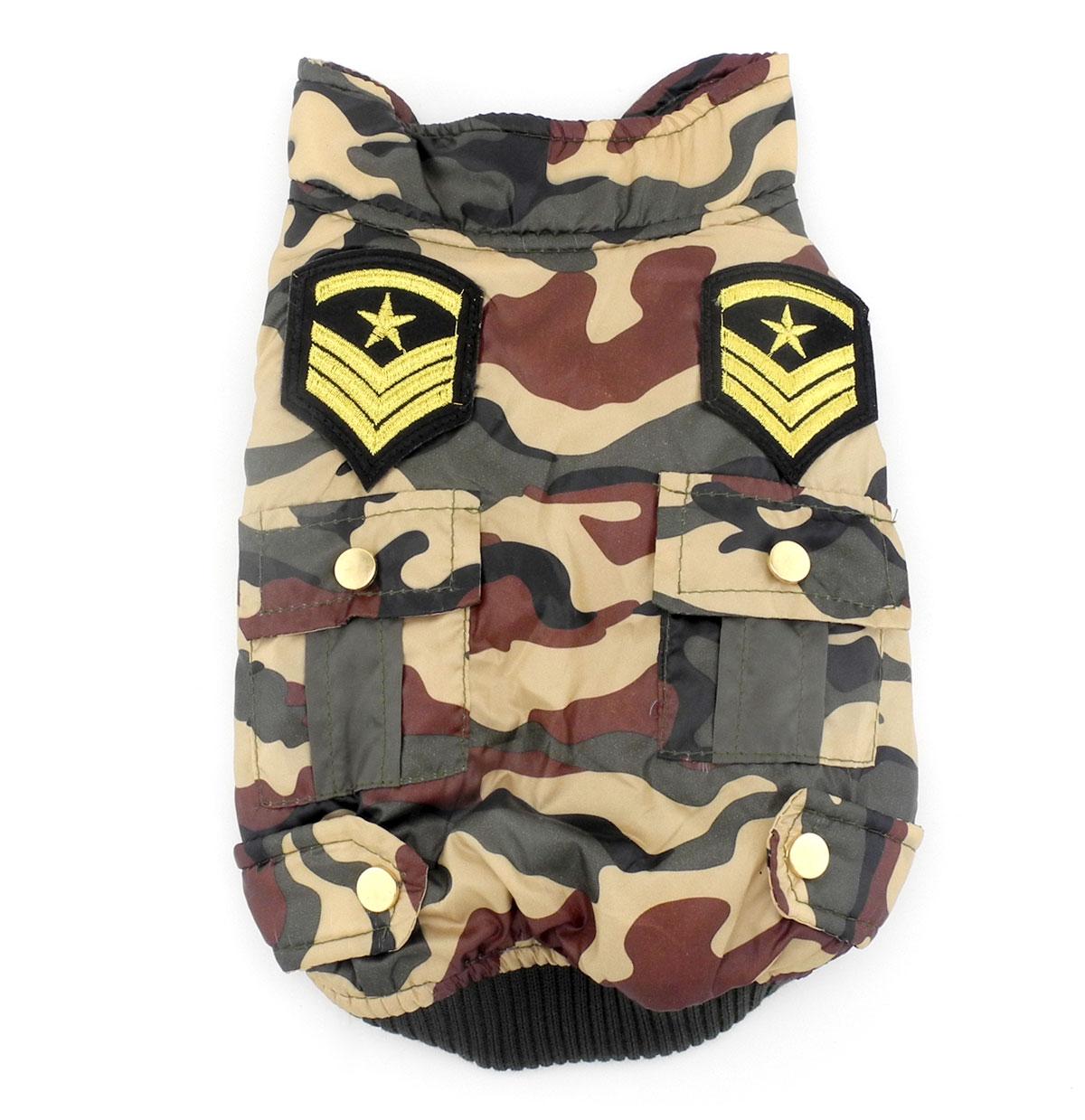 2017 Kis kisállat kutya macska ruhák Camo katonai egyenruha - Pet termékek