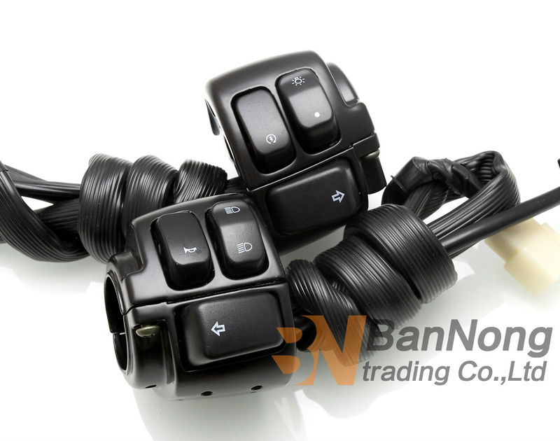 Motorcycle 1 Handlebar Light Switch Turn Signal Light On Off Handlebar Ignition For Harley XL 883