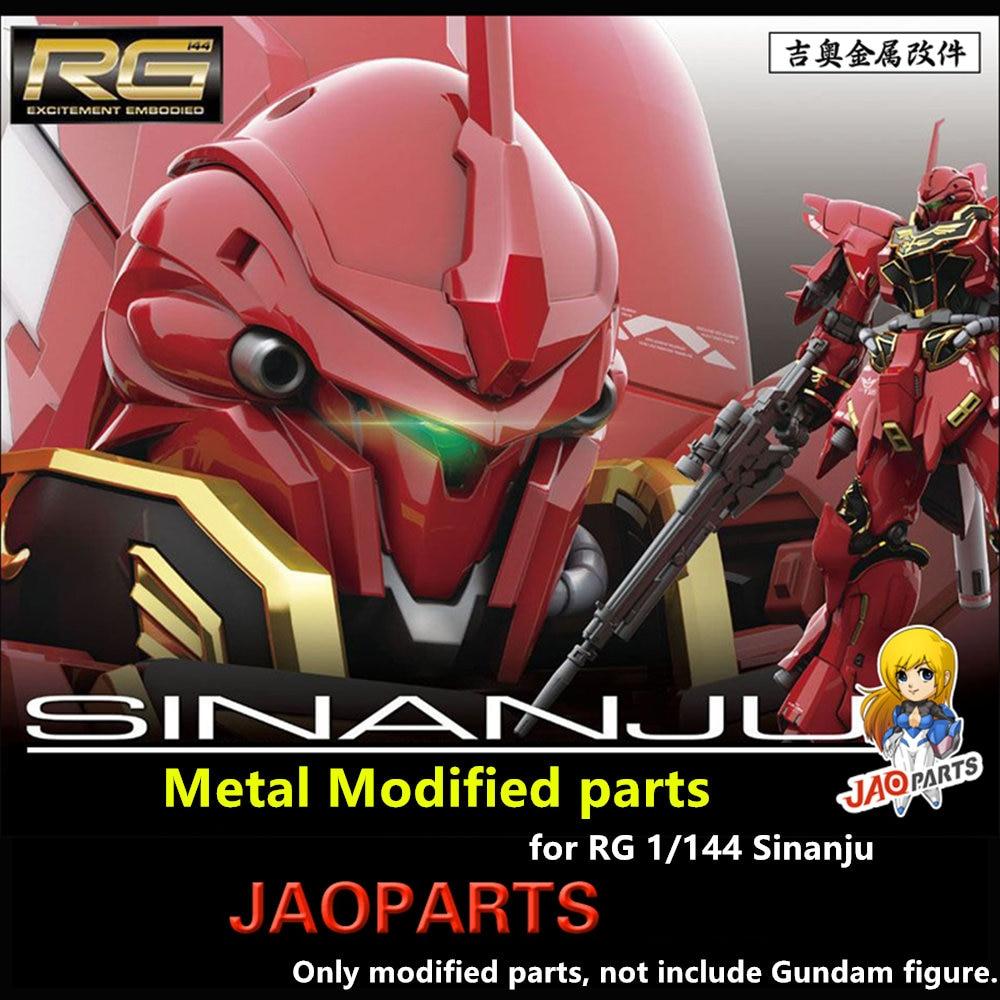Oyuncaklar ve Hobi Ürünleri'ten Aksiyon ve Oyuncak Figürleri'de JAOparts Metal Modifiye parçaları seti Bandai RG 1/144 MSN 06S Sinanju Gundam'da  Grup 1