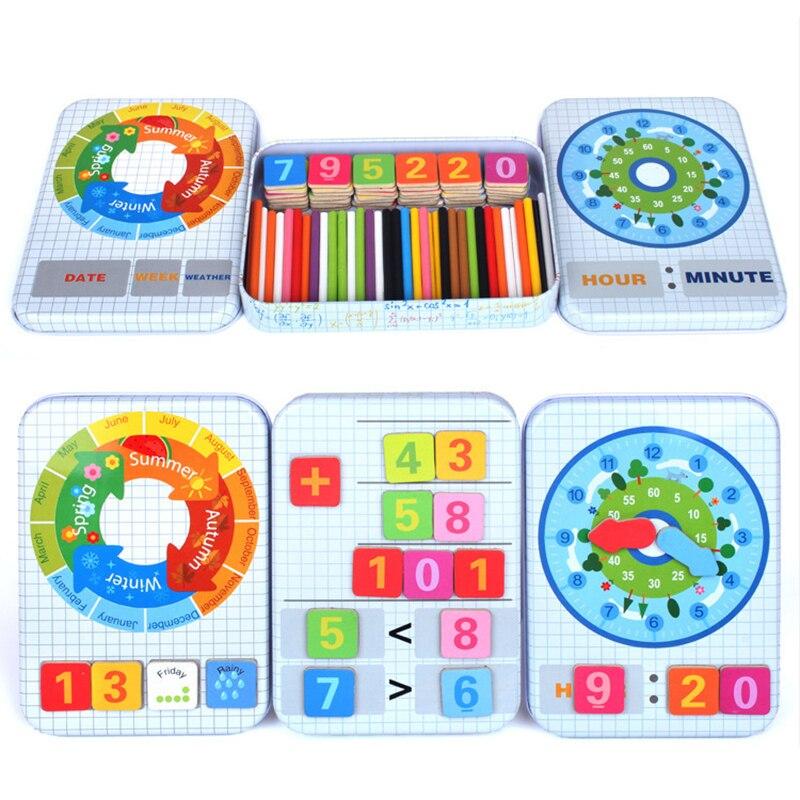 Haute Qualité Enfants Montessori Mathématiques Jouets En Bois Couleur Bâtons Apprentissage Comptage Éducation Math Jouet pour Enfants Cadeau