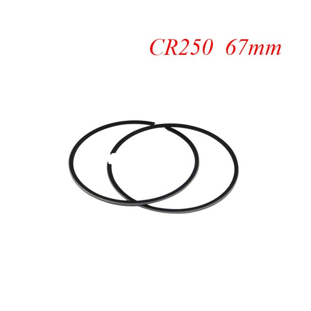 Anillos de pistón de la motocicleta para honda cr250 cr 250 (+ 100) 1mm de gran tamaño diámetro 67mm nuevo
