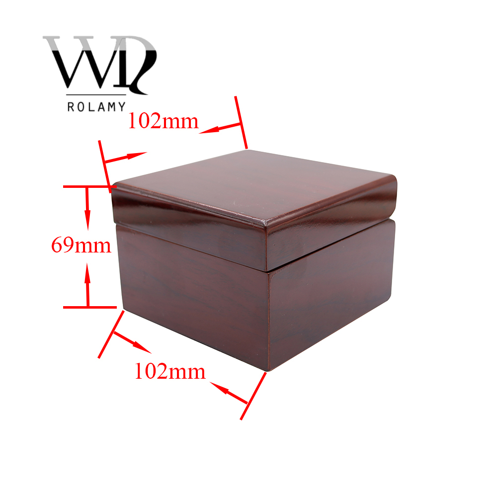 Rolamy Wholesale Fashion Luxury Wood Watch Box Jewelry Storage Case Gift Box With Pillow For Rolex Omega IWC Breitling Tudor