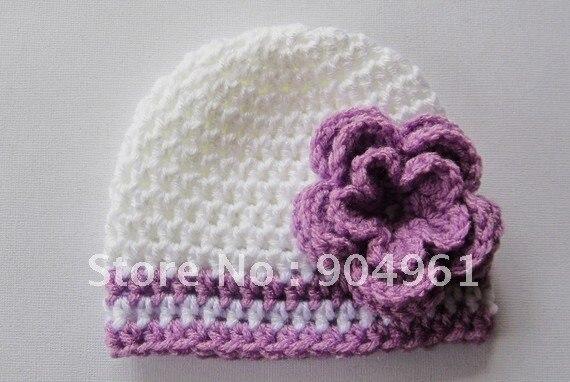 Детское молоко хлопок крючком цветок шляпу