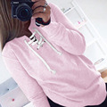 Thin Autumn Summer Chic Lace up Sweatshirt Women tops ladies Sweatshirt Long Sleeve Pullovers Girls Pink Hoodies Sweat FASHION
