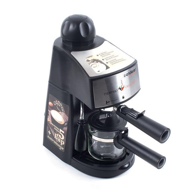 Кофеварка Endever Costa-1050 (Мощность 900 Вт, емкость 0,2 л, рожковая, съемный латок для сбора капель)
