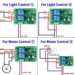 Image 4 - QIACHIP relé de interruptor de Control remoto inalámbrico 2CH AC 110V 220V 433Mhz, receptor y transmisor de 2 canales para puerta de luz, puerta de garaje y coche