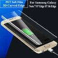 S7 Край Чехол Фильм 3D Полное Покрытие Для Samsung Galaxy S7 Edge S7 S6 Край S6 Edge plus Примечание 7 Hd-экран Протектор Мягкая Пленка ПЭТ