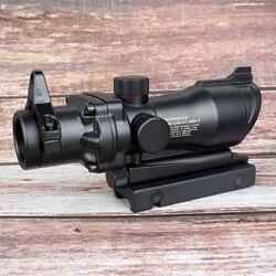 Оптический прицел для винтовки ACOG 1X32 с красной точкой, оптический прицел с красной точкой, охотничий прицел с рельсой 20 мм для страйкбольног...