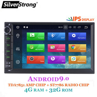 SilverStrong IPS Android9.0 4G Car DVD 2din Universal Car GPS Radio Magnito Tape Recorder Navigation option DSP 8.1+16G 707