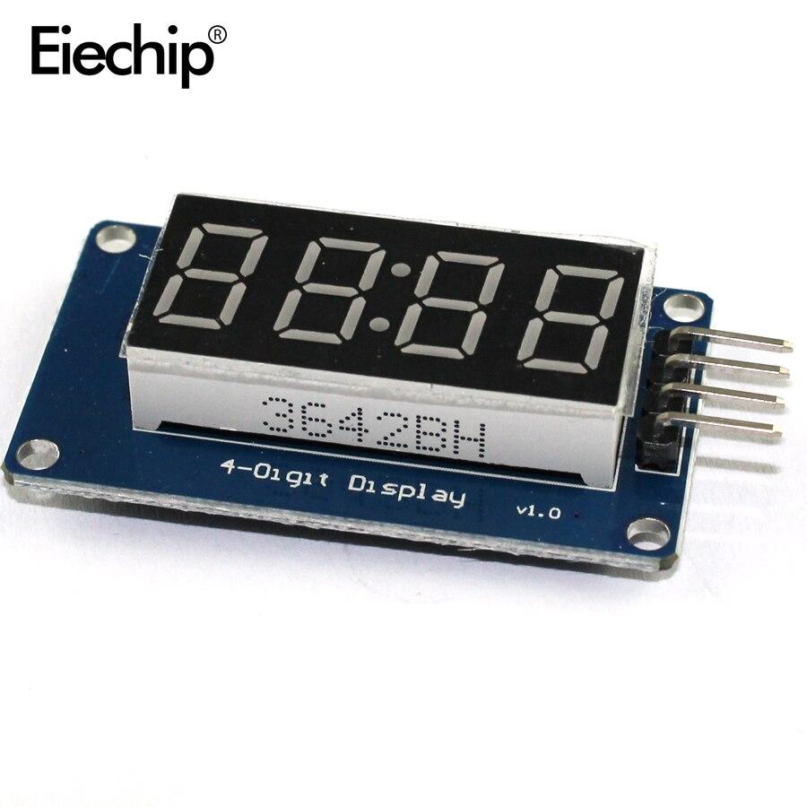 5pcs 4 Bit TM1637 7 Segments Digital Display Tube Red 4-Digit LED Display Module Board For Arduino Diy LED Display Board
