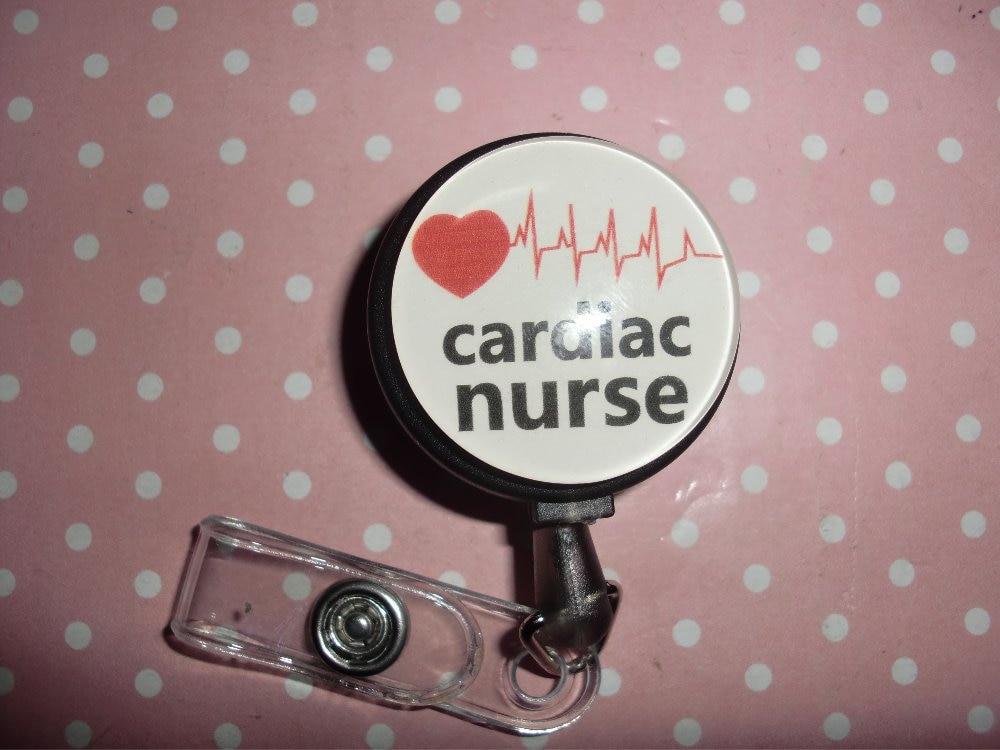 Nursing Rn Stuedent Nurse Retractable Id Badge Reel 10pcs