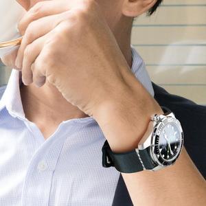 Image 5 - MAIKES Cổ Điển Da Ban Nhạc Đồng Hồ Ánh Sáng Màu Nâu Với Khóa Bằng Thép Không Gỉ 20mm 22mm 24mm Dây Đeo Đồng Hồ Watchband cho Omega