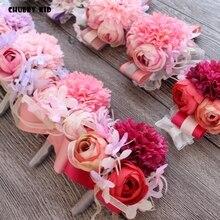10 шт./лот! Оптовая продажа Привет-Q искусственный цветок бутаньерка жениха Свадебные бутоньерки цветок на руку для подружки невесты свадебные наручные Цветы