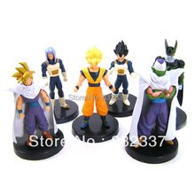 Pop Anime Cartoon Dragon Ball Z Action Figures  Goku Cell Vegeta Action Figure For Gift 6pcs/set Free Shipping