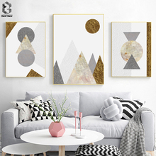 Geometric Marble Art Canvas Posters and Prints Minimalist Nordic Painting Wall Pictures for Living Room Modern Home Decor