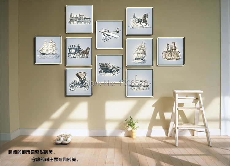 Office decoration diy wall art mural canvas painting picture frame ...
