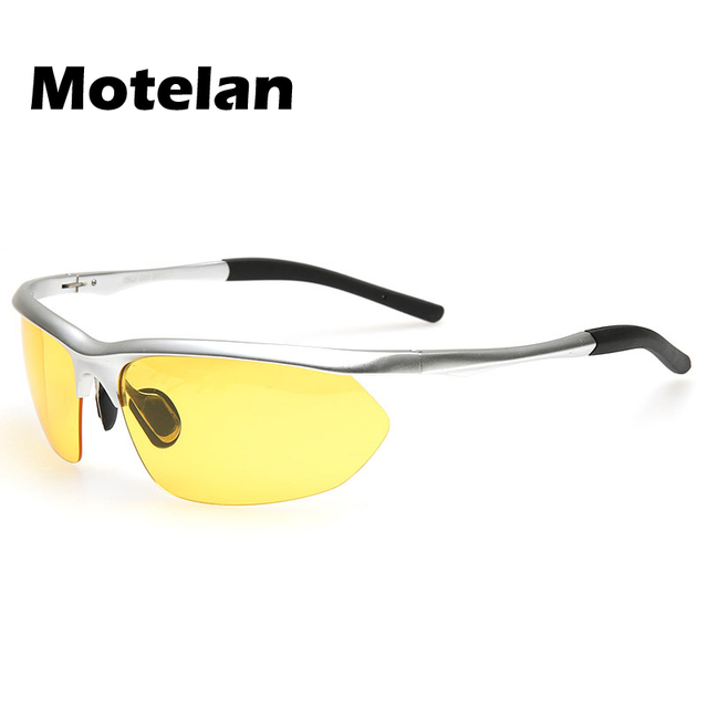 12385d6165 New Men Fashion Polarized Night Vision Driving Sunglasses UV400 Protection  Anti-Glare Yellow Lens Eyewear for Drivers 9124US  11.56