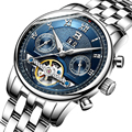 Switzerland BINGER watches men luxury brand Tourbillon multiple functions water resistant Mechanical Wristwatches B-8603M-5