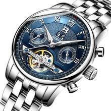 Suisse BINGER montres hommes marque de luxe Tourbillon multiples fonctions résistant à l'eau Mécanique Montres B-8603M-5